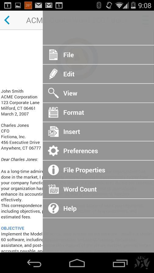 آفیس کامل - Docs To Go™ Free Office Suite