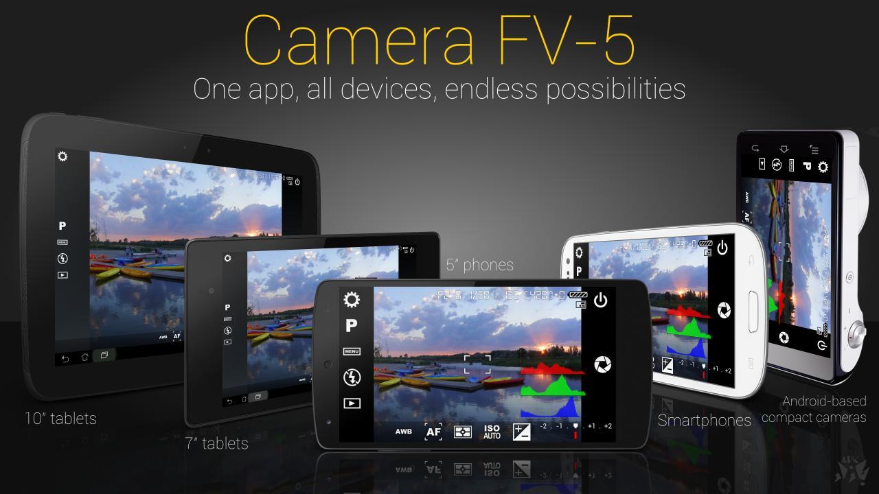 Camera FV-5- برنامه دوربین